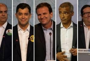 Os candidatos ao governo do Rio Foto: Montagem O Globo