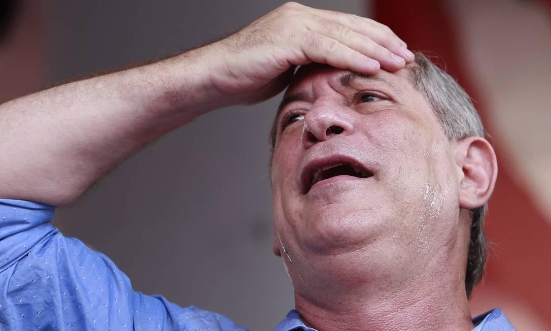 O candidato à Presdiência Ciro Gomes, em Suzano, SP Foto: Edilson Dantas / Agência O Globo