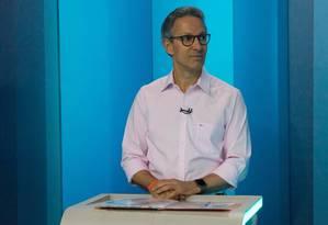 O candidato Romeu Zema durante o debate dos candidatos a governador de Minas Foto: Agência Estado