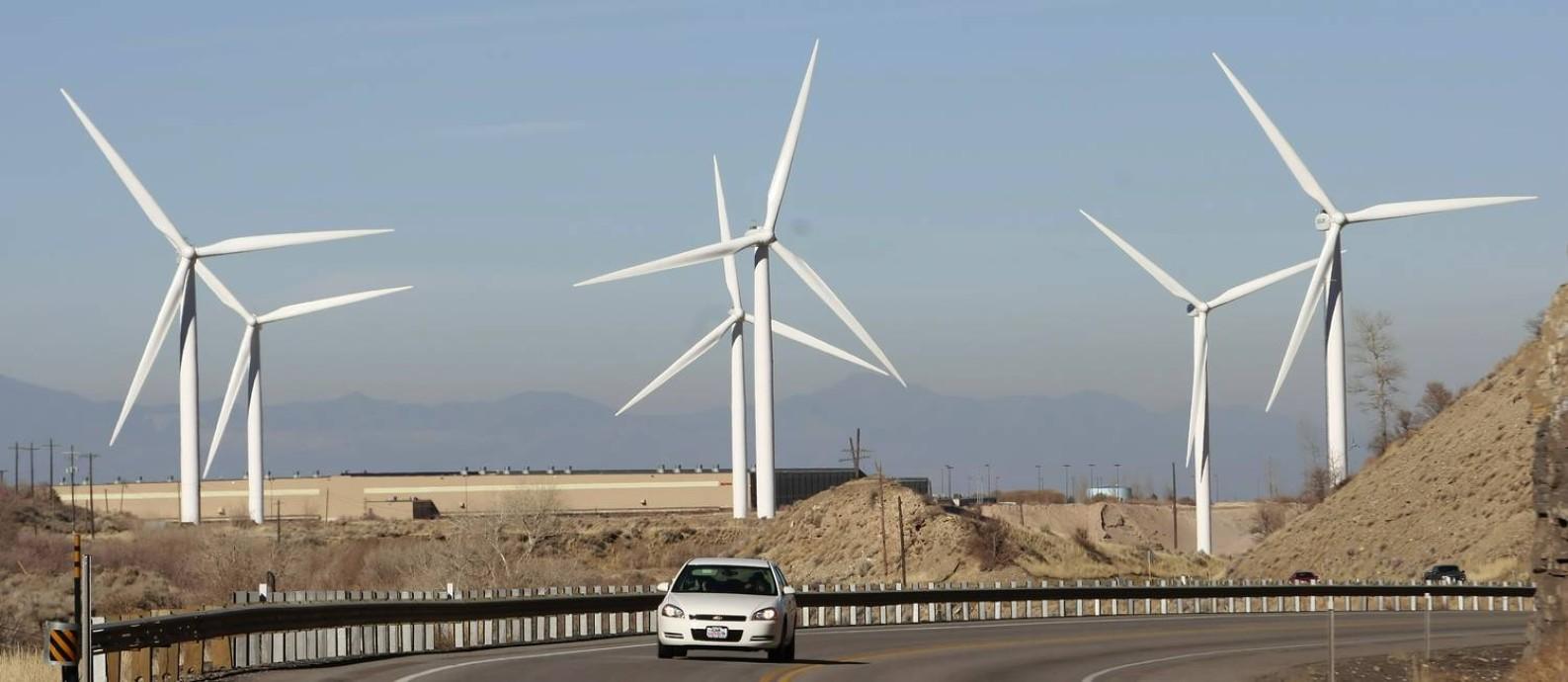 Usina eólica instalada em Spanish Fork, no estado de Utah Foto: GEORGE FREY / Getty Images/AFP