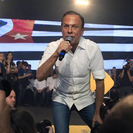 João Doria, que se anunciou como renovação tucana, abandonou Alckmin e se alinhou com Bolsonaro Foto: Edilson Dantas / Agência O Globo