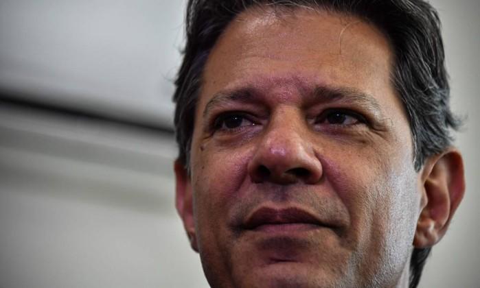 O candidato do PT à Presidência, Fernando Haddad Foto: NELSON ALMEIDA / AFP