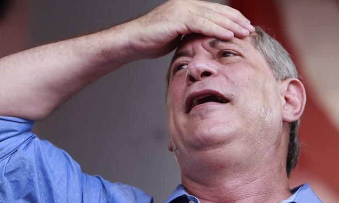 Ciro Gomes , candidato à Presidencia da República Foto: Edilson Dantas / Agência O Globo