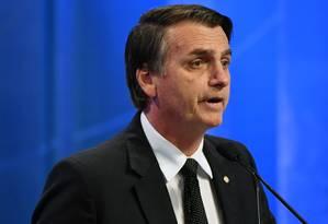 O candidato Jair Bolsonaro Foto: Nelson Almeida / AFP