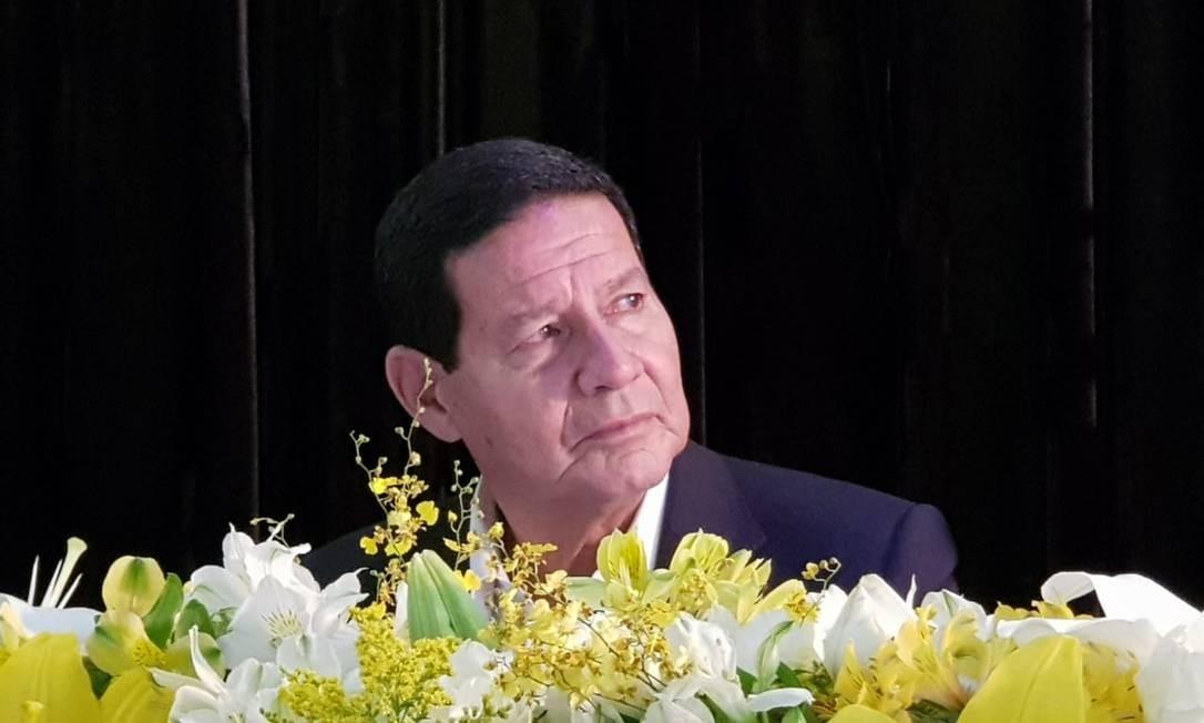 O general Hamilton Mourão, vice de Jair Bolsonaro Foto: Gustavo Schmitt/Agência O Globo / Agência O Globo