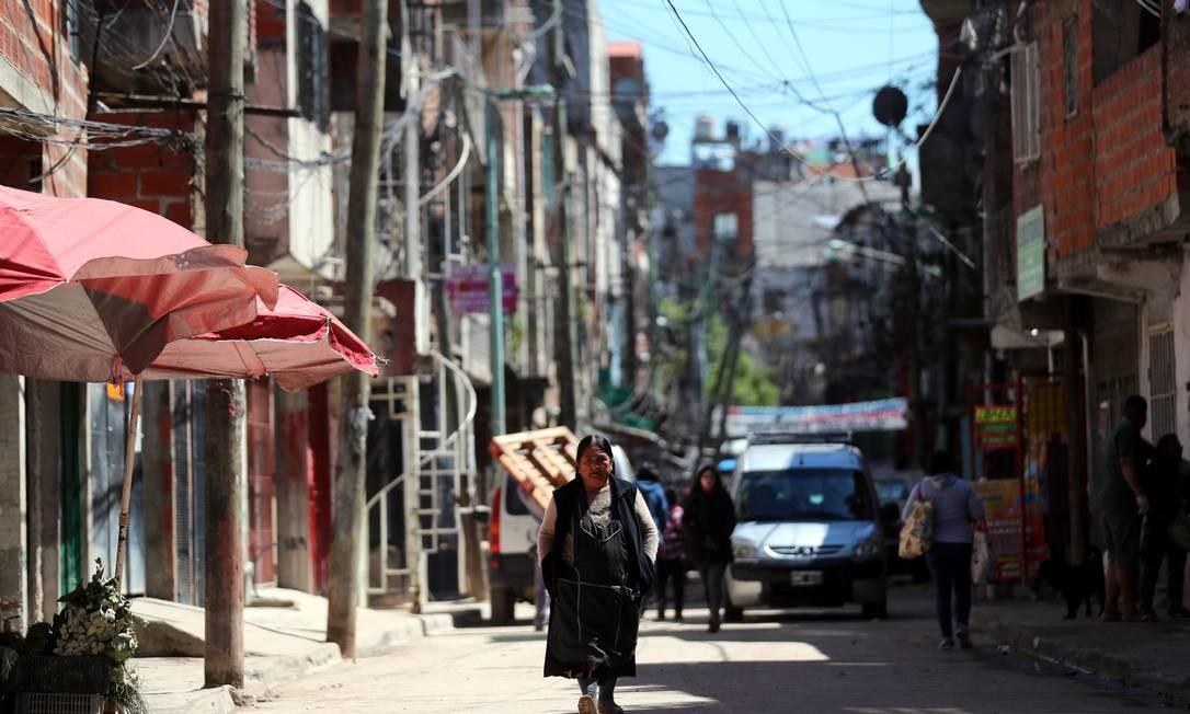 Ruas de Buenos Aires Foto: MARCOS BRINDICCI / MARCOS BRINDICCI/REUTERS