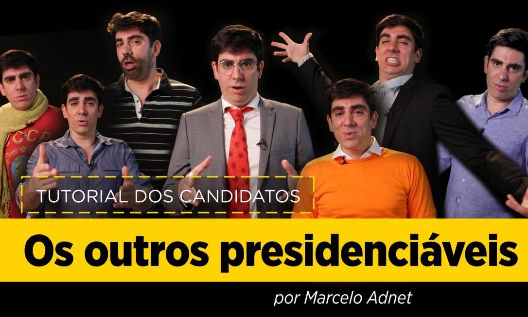 Adnet imita outros presidenciáveis Foto: Reprodução