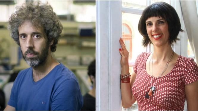 Os autores Olavo Amaral e Gisele Mirabai Foto: Infoglobo