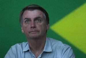 O candidato à Presidência da República Jair Bolsonaro Foto: Edilson Dantas / Agência O Globo