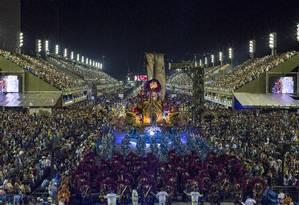 Desfiles da Portela na Marquês de Sapucaí, no último carnaval Foto: Alexandre Cassiano / Agência O Globo