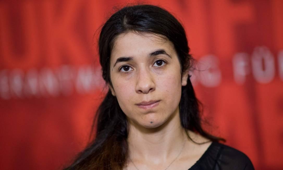 """Nobel da Paz recebido por Nadia Murad representa um """"alto reconhecimento"""" das questões de sofrimento dessa minoria religiosa Foto: JULIAN STRATENSCHULTE / AFP"""