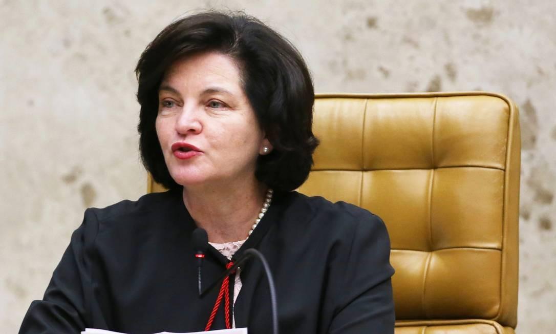 A procuradora-geral da República, Raquel Dodge, durante discurso no plenário do STF Foto: Ailton de Freitas/Agência O Globo/04-10-2018