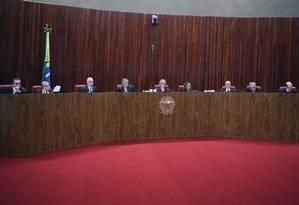 Sessão plenária do TSE Foto: Carlos Moura/TSE/03-10-2018