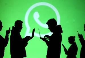 WhatsApp é ferramenta mais usada por brasileiros para compartilhar notícias sobre política e eleições Foto: Dado Ruvic/Reuters/28-03-2018