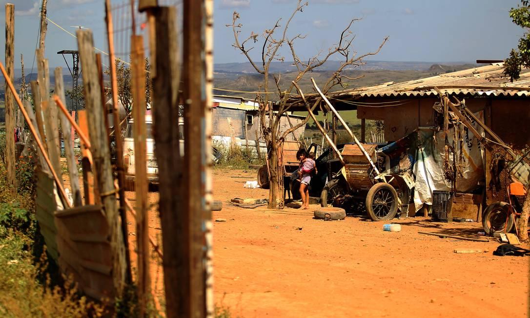 Comunidade do Sol Nascente, em Brasília Foto: Jorge William/Agência O Globo/16-05-2018