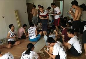Apartamento em Huizhou foi transformado em base para estudantes que apoiavam a formação de um sindicato por trabalhadores locais: local foi invadido por policiais; 50 foram presos Foto: Sue-Lin Wong/Reuters/23-8-2018