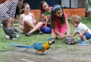 Passeio animal. A Fazendinha Piquenique preparou um dia inteiro de atividades para os pequenos Foto: Marcio Alves / Marcio Alves