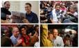 Os candidatos a presidente Bolsonaro, Haddad, Ciro Gomes e Alckmin