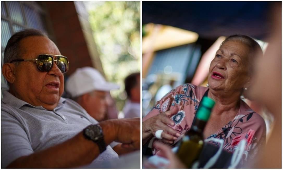 O piauiense Antonio Amorim pretende votar em Bolsonaro, e a mineira Marlene Lourenço, em Haddad Foto: Daniel Marenco/ Agência O GLOBO