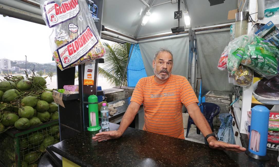 Miguel Ribeiro, presidente da Associação de Vendedores de Coco na Praia de Icaraí Foto: Marcio Alves / Márcio Alves