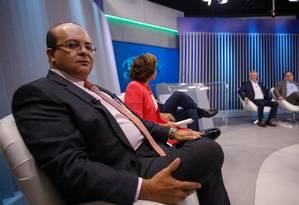 Ibaneis (MDB) participa de debate com candidatos ao governo do Distrito Federal Foto: Daniel Marenco/Agência O Globo/02-10-2018