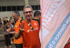 Romeu Zema, candidato do Novo ao governo de Minas Gerais, durante atividade de campanha Foto: Reprodução/Facebook