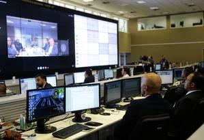 Centro Integrado de Comando e Controle das Eleições, em Brasília Foto: Jorge William / Agência O Globo