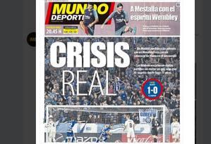 'Crise Real' destaca 'Mundo Deportivo' Foto: Reprodução