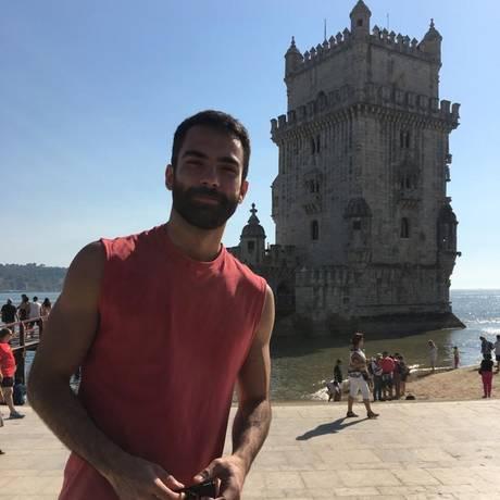 O produtor de audiovisual William Manfroi está há menos de um ano em Portugal e vai votar em Ciro Gomes Foto: Arquivo pessoal