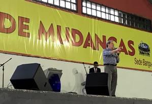 R.R. Soares em culto da Igreja Internacional da Graça de Deus no Bangu Atlético Clube Foto: Terceiro / Vera Araújo