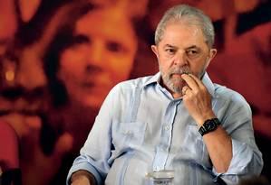 O ex-presidente Lula está preso na sede da PF em Curitiba Foto: Nelson Almeida / Afp
