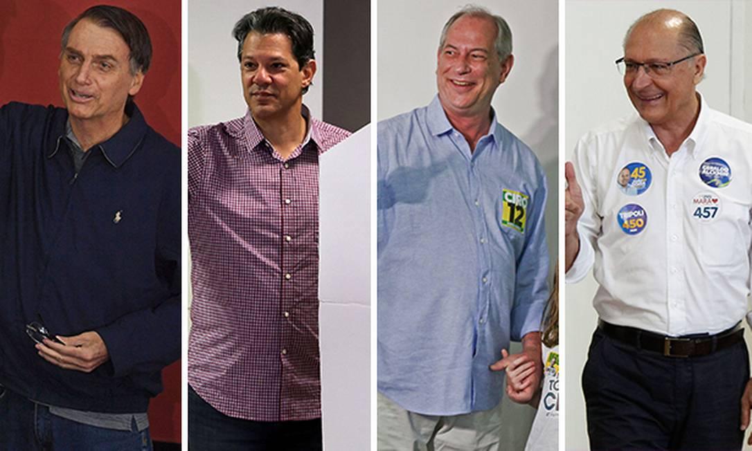 Candidatos à Presidência votam neste domingo Foto: Editoria de Arte
