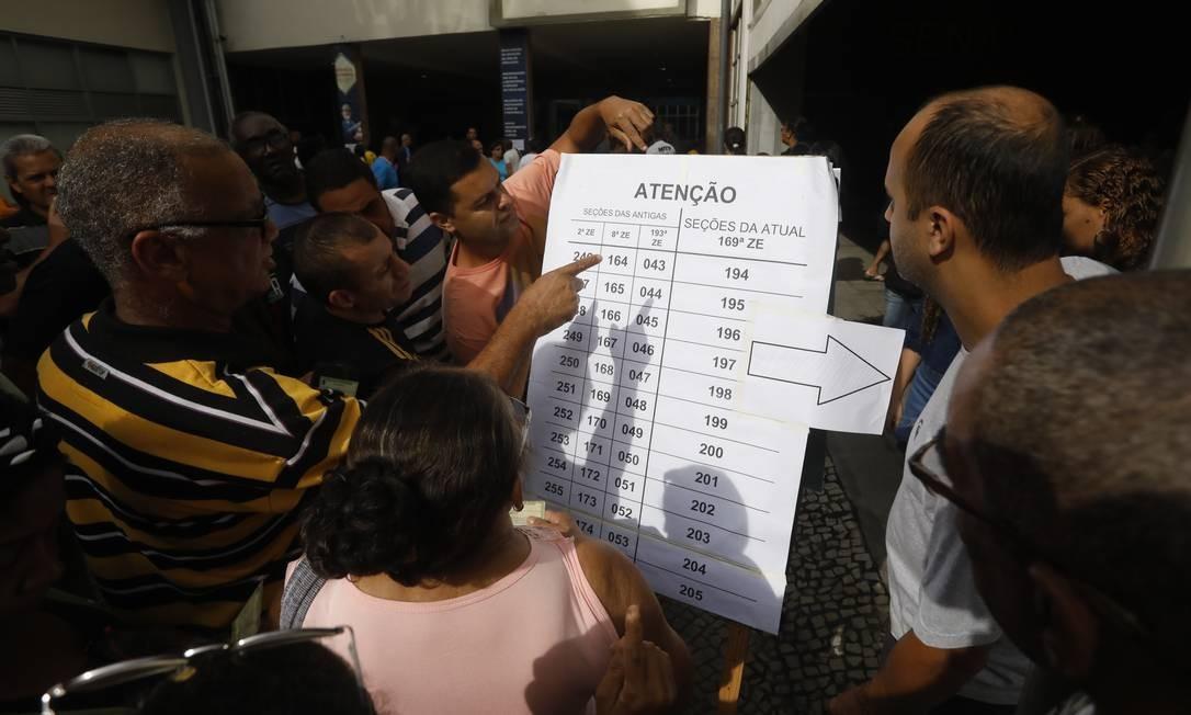 Eleições 2018. Avertura dos portões no Senac de Benfica. Custódio Coimbra / Agência O Globo