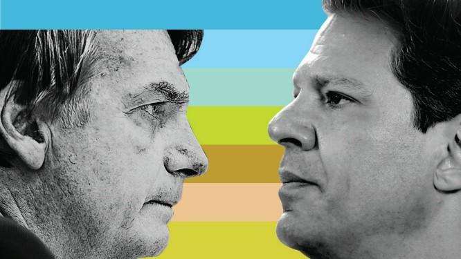 Jair Bolsonaro e Fernando Haddad disputarão segundo turno pela Presidência do Brasil Foto: Agência O Globo