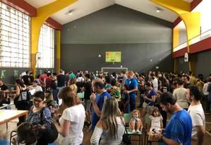 Ginásio do Colégio Bennet, no Flamengo, com muitas filas para votação Foto: Célia Costa