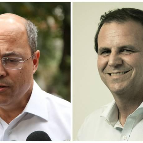 Wilson Witzel e Eduardo Paes Foto: Editoria do Site