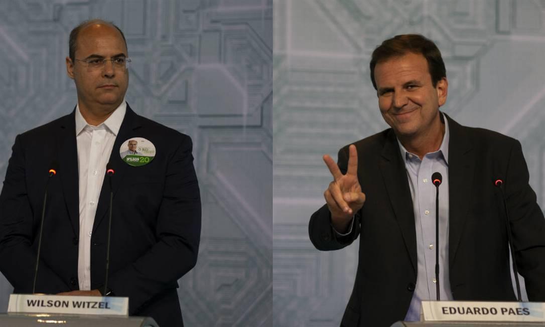 Wilson Witzel (PSC) e Eduardo Paes (DEM) lideram disputa para governo do Rio Foto: Montagem/Alexandre Cassiano//Agência O Globo