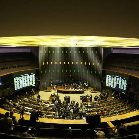 Plenário da Câmara dos Deputados Foto: Ailton de Freitas / Agência O Globo/11-07-2018