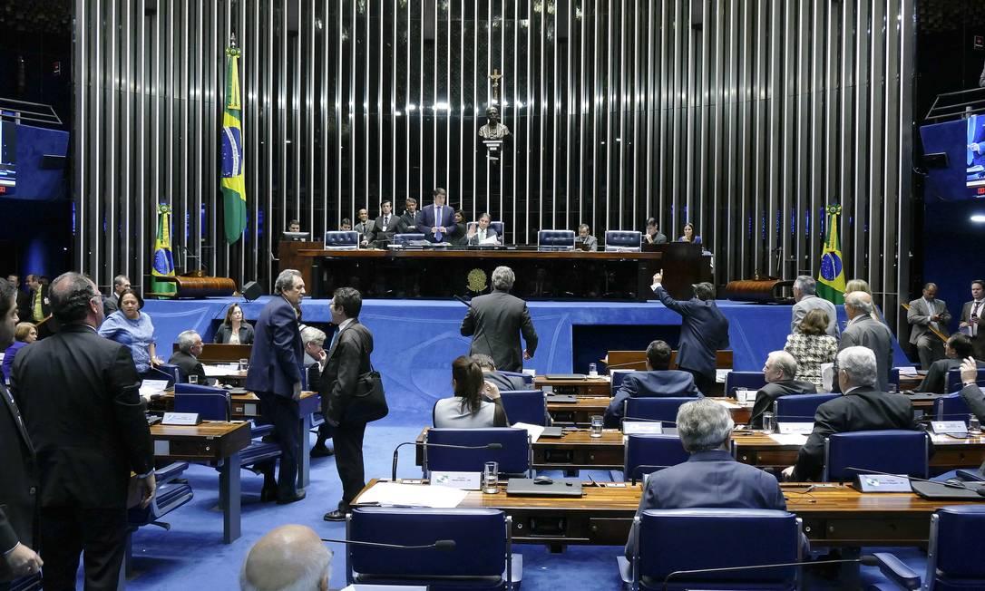 Plenário do Senado Federal durante sessão Foto: Roque de Sá/Agência Senado/23-05-2018