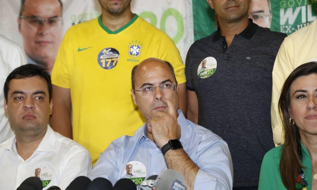 Witzeldisputará o segundo turno com Eduardo Paes Foto: Marcos Ramos / Agência O Globo
