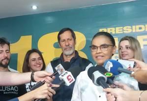 A candidata da Rede, Marina Silva, durante entrevista Foto: Patrik Camporez/Agência O Globo