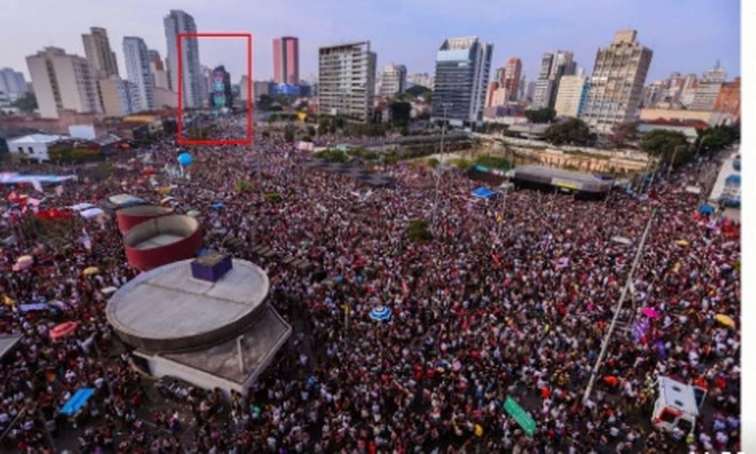 Manipulação. Foto de manifestação em São Paulo foi alvo de fake news