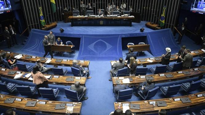 Plenário do Senado durante sessão Foto: Pedro França/Agência Senado/05-09-2018