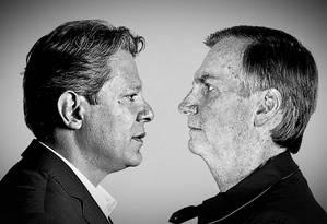 Fernando Haddad e Jair Bolsonaro se enfrentarão no 2º turno pela Presidência do Brasil Foto: Agência O Globo