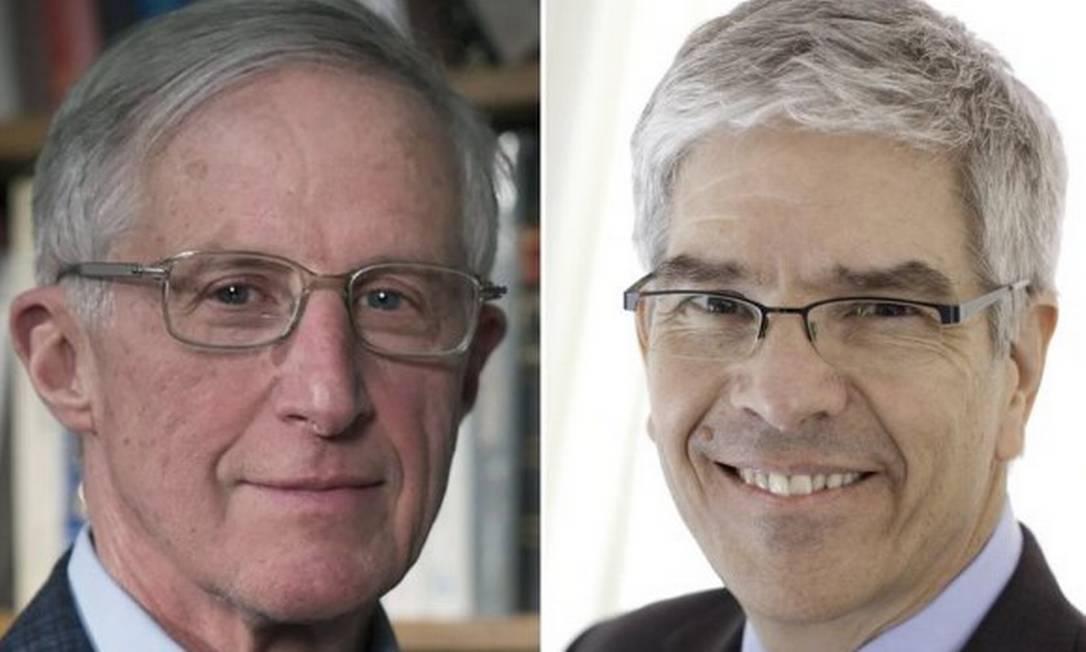 Os americanos William D. Nordhaus (à esquerda) e Paul Romer venceram o Prêmio Nobem de Economia 2018 Foto: Reuters