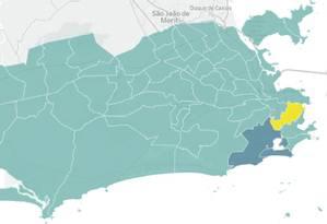 Mapa interativo: a votação para governador do RJ por zona eleitoral Foto: Reprodução