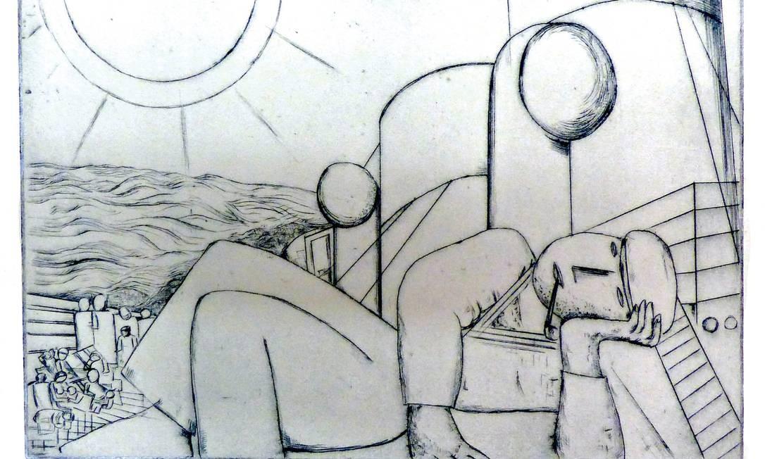 'Marinheiro deitado com cachimbo', de LAsar Segall, faz parte da mostra Foto: Divulgação
