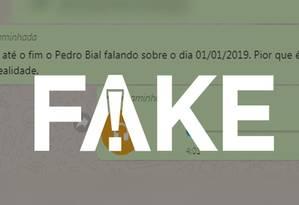 Áudio que circula atribuído a Pedro Bial não é de autoria dele Foto: Reprodução