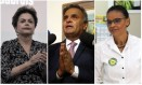 A ex-predidente Dilma Rousseff, o senador Aécio Neves e a ex-ministra Marina Silva Foto: Arquivo O GLOBO