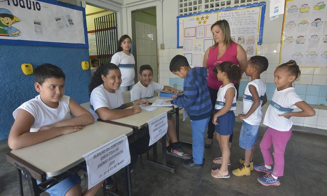 Dia de votação na Escola Municipal Tóquio Foto: Helio Melo / Divulgação